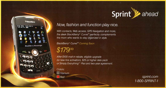 Sprint Curve Available in Red and Out May 7th