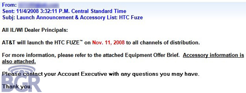 AT&T Releasing Fuze on November 11th