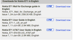Nokia releases AT&T Nokia E71x manual