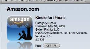 Amazon brings Kindle to the iPhone