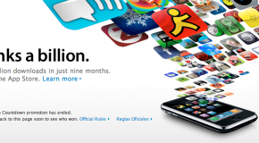 Apple hits one billion app downloads