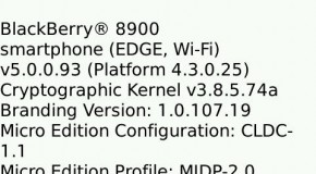 OS 5.0.0.93 leaked for the BlackBerry Bold and Curve 8900
