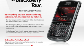 BlackBerry Tour makes its on Verizon's website