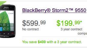 Telus BlackBerry Storm2 Now Available