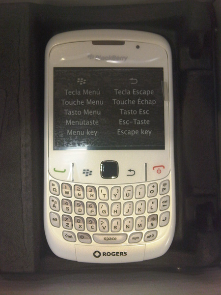 The BlackBerry Curve 8520 will