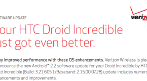 Android 2.2 coming to DROID Incredible tomorrow
