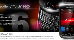 BlackBerry Torch available on Rogers on September 24