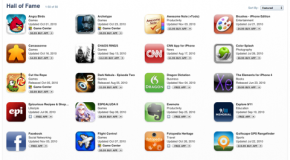 "Apple picks 50 best apps; calls it ""Hall of Fame"""