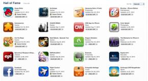 "Apple picks 50 best apps; calls it ""Hall of Fame"""
