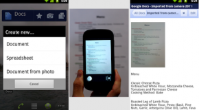 Google Docs for Android allows you collaborate on the go