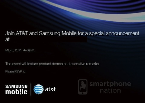 ATT Samsung Announcement AT&T and Samsung having a special announcement on May 5