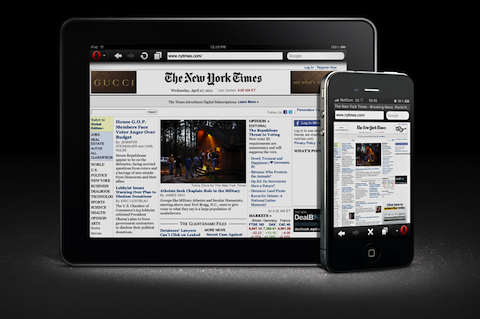 Opera Mini 6 for iOS Opera Mini launches for the iPad and iPhone