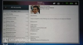 RIM announces native email, contacts, and calendar on BlackBerry PlayBook