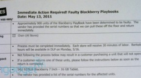 RIM recalls over 900 BlackBerry PlayBooks (Updated)