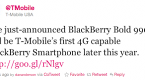 T-Mobile to carry the BlackBerry Bold
