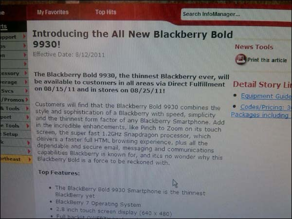 DC1F864D EC31 492C 8FAF 6B2748B0BE041 BlackBerry Bold 9930 coming to Verizon stores on August 25? Direct fulfillment on August 15?
