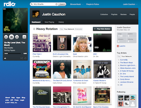 Rdio Web Rdio review