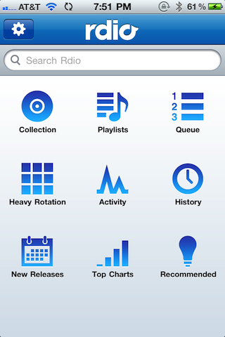 Rdio iPhone Rdio review
