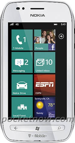Nokia Lumia 710 T Mobile T Mobile branded Nokia Lumia 710 press shot leaks