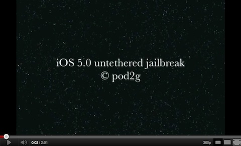 untethered 5.0 jailbreak1 Untethered jailbreak for iOS 5 may be coming soon; shown off on video