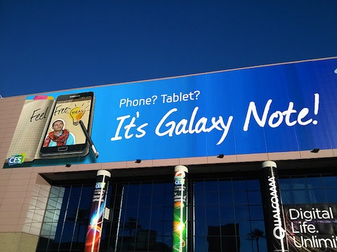 Samsung Galaxy Note CES signage reveals AT&T as carrier