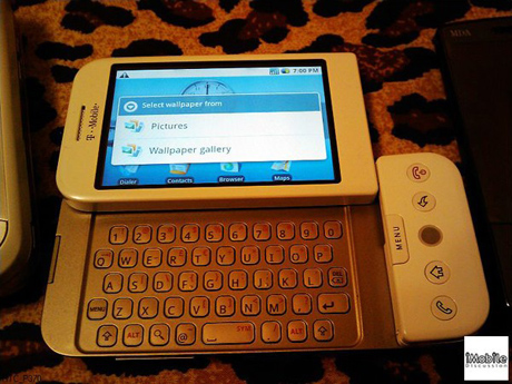 Leaked Image of T-Mobile HTC Dream G1