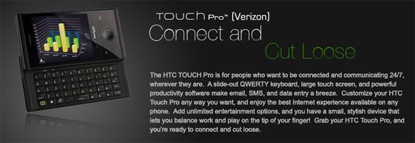 HTC Introduces Verizon Touch Pro