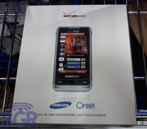 Samsung Omnia Officially Announced by Verizon