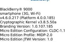 BlackBerry Bold OS 4.6.0.217 leaked