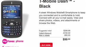 T-Mobile launches T-Mobile Dash in black