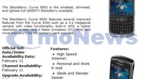 T-Mobile BlackBerry Curve 8900 to be released on February 11th