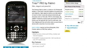 Sprint puts Palm Treo Pro on website; then takes it down