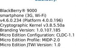 OS 4.6.0.234 for BlackBerry Bold leaked