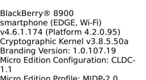 OS 4.6.1.174 leaks for BlackBerry Curve 8900