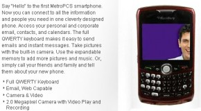 MetroPCS launches BlackBerry Curve 8330