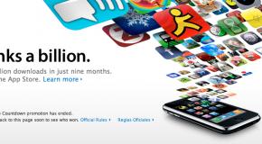 Apple hits one billion app downloads