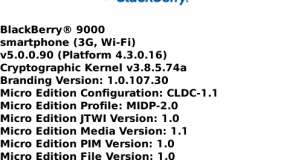 BlackBerry OS 5.0.0.90 leaked for Bold and Curve 8900