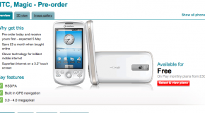HTC Magic available for pre-order from Vodafone