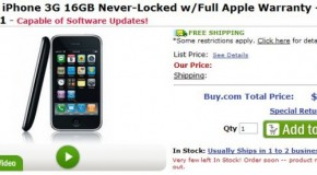 Buy.com selling unlocked iPhone 3G for $799
