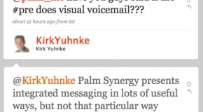 Palm confirms no Visual Voicemail upon release of Pre