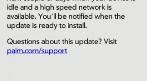 Palm issues webOS 1.0.4 update to Pre owners