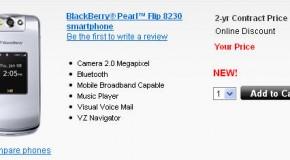 Verizon Blackberry Pearl Flip 8230 Now Available