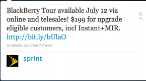 Sprint launching BlackBerry Tour on July 12th for $199.99