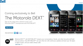 Bell Launches Motorola Dext with MOTOBLUR