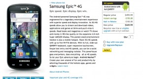 Sprint Epic 4G is out