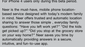Neer makes its way into App Store; allows location sharing with trusted groups