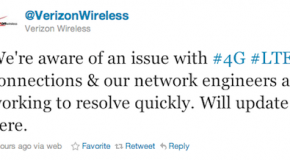 Verizon's 4G LTE network is down; they are working on a fix (Updated)