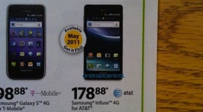 Walmart getting the AT&T Samsung Infuse 4G in May