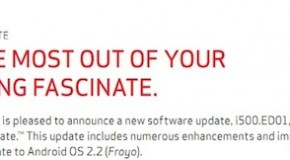 Samsung Fascinate on Verizon getting Froyo update tomorrow