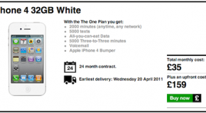 White iPhone 4 coming on April 20 according to UK carrier 3